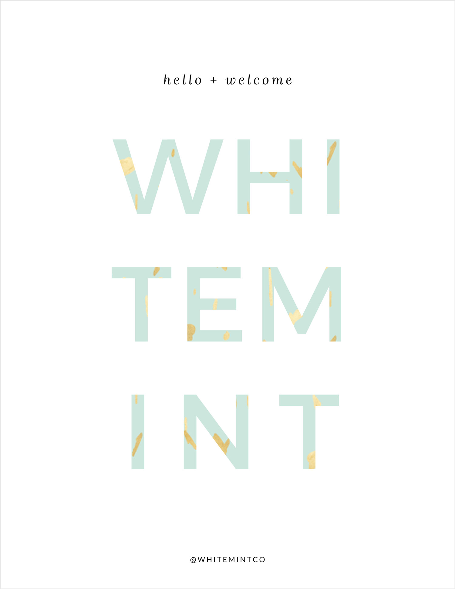Welcome to White Mint Co.